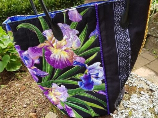 Bag with iris fabric for fundraising