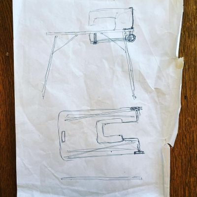 2001 First drawing of portable table
