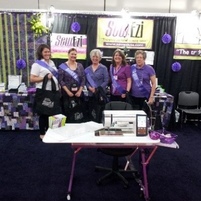 2013 Festival of Quilts Houston, Texas 10th Anniversary Celebration with Barb (SewEzi USA) and her amazing team.