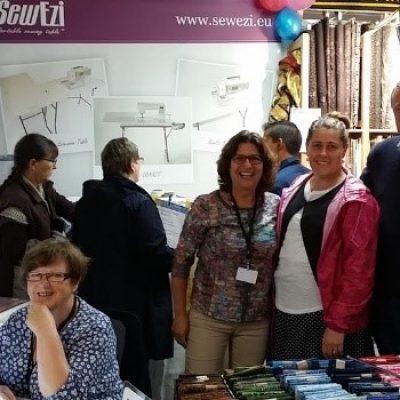 2015 Carrefour European Quilt Show Sainte-Marie-aux-Mines, France with Elly Prins (SewEzi Europe)