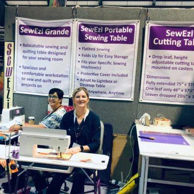 2018 SewEzi UK & Ireland, Yvonne & Clare at The Knitting & Stitching Show in Dublin